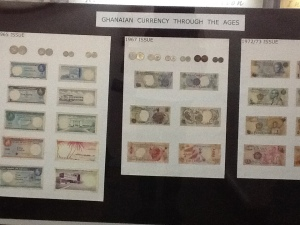 Ghanaian currency from the past.
