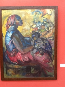 oil painting on exhibition
