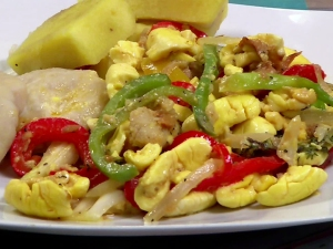 the glamorous Caribbean dish.